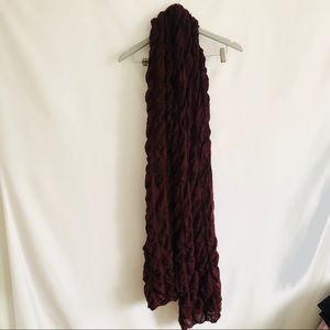 Free People Maroon Deep Red Knot Scarf